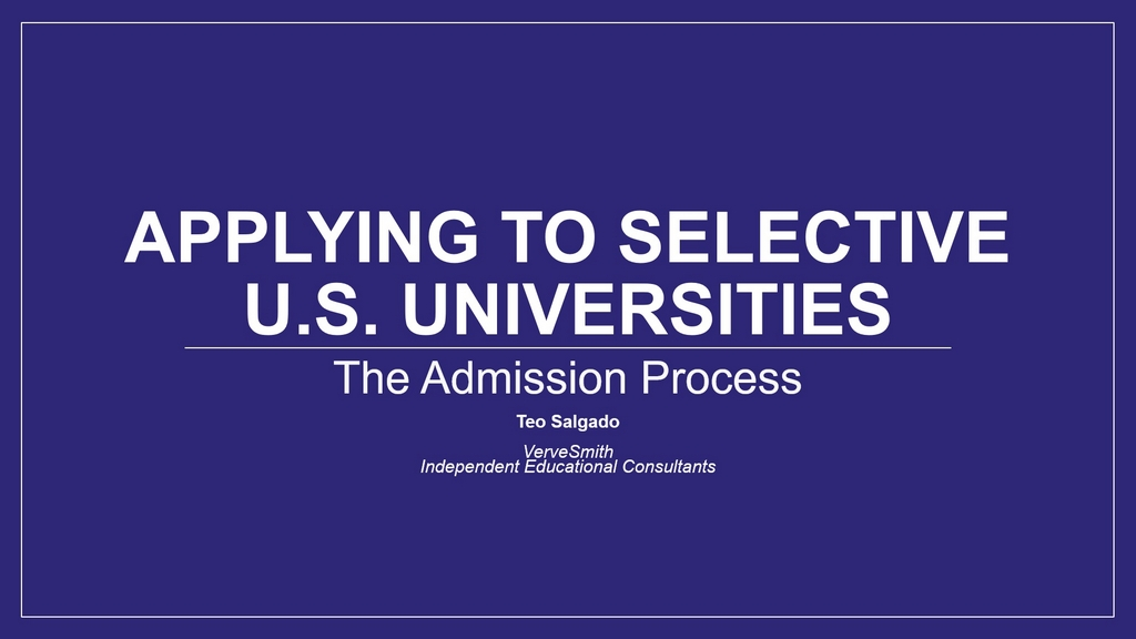 Presentations educational and admissions consulting vervesmith malvernweather Image collections