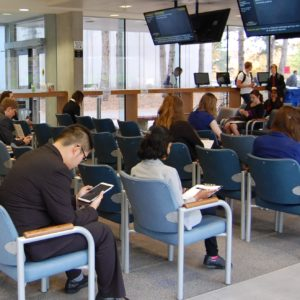 Interview waiting room